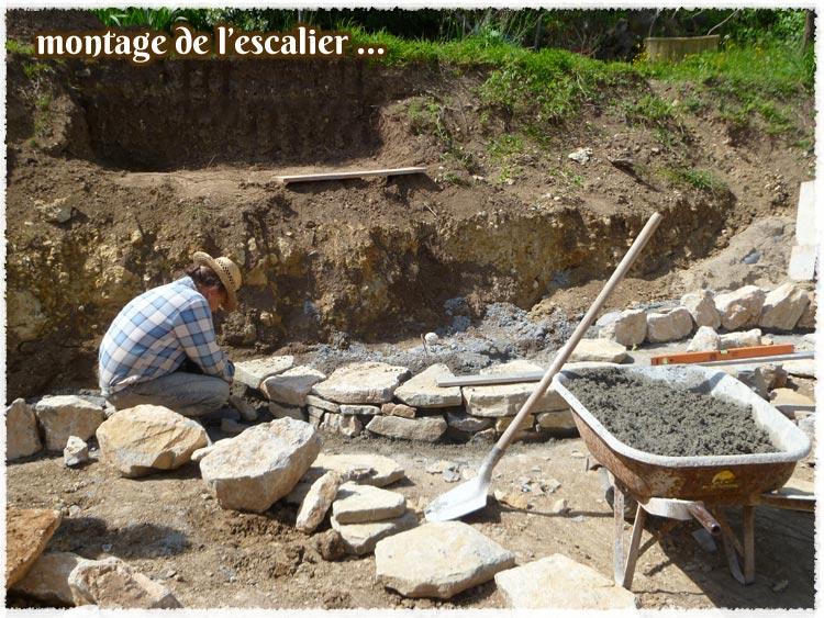 Construction de murs, murets, escaliers, arches en pierre naturelle