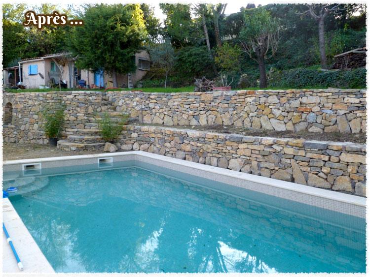 Piscine avec mur en pierre rs46 montrealeast for Prix construction piscine var